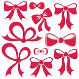 Red vector bows