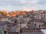 landscape of Matera in the morning