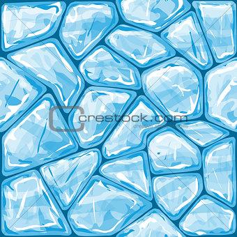Blue ice seamless pattern