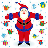 Santa Claus and many gifts