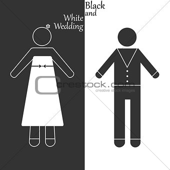 Black-and-white wedding