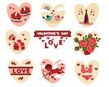 Valentine's (love) flat icons