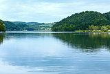 Lake Czorsztyn summer cloudy view (Poland)