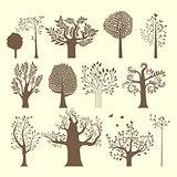 Brown trees set