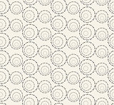 Seamless pattern with dotted circles. Vector repeating texture.