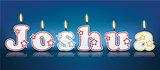 JOSHUA written with burning candles