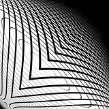 Design monochrome warped grid backdrop