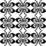 Design seamless monochrome butterfly pattern