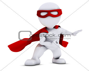 3D Morph Man super hero