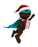 morph man santa super hero