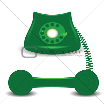 old green phone