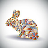 Abstract colorful rabbit.