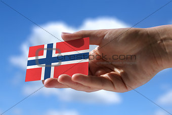Small norwegian flag