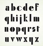 Geometric Retro Art Deco Alphabet
