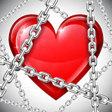 Heart and chains