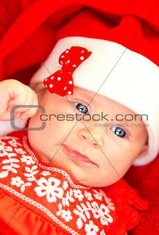 Little baby on Christmas celebration