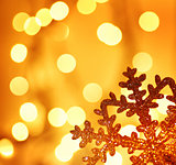 Golden snowflake Christmas tree decoration