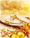 Luxury festive table setting
