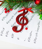 Christmas treble clef