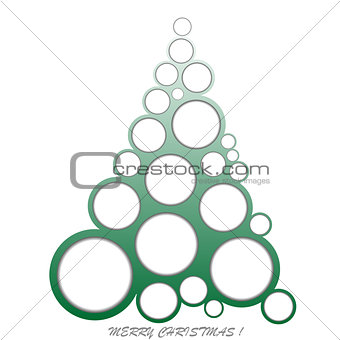 Abstract Christmas made of circles
