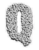 3D Cube Letter Q
