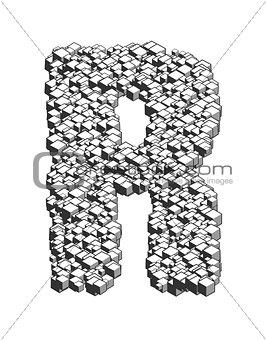 3D Cube Letter R