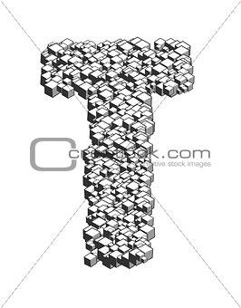 3D Cube Letter T