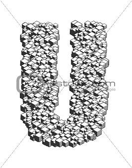 3D Cube Letter U