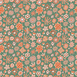 Seamless floral pattern different painted flowers