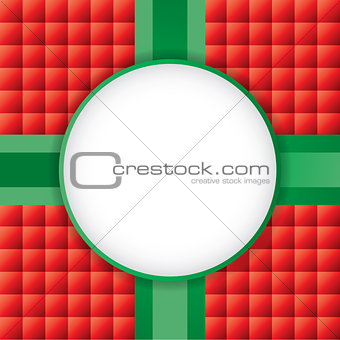 A Christmas Present Background with Copyspace Illustration