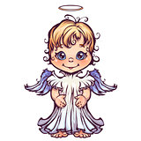 Vector illustration of cute angel