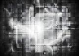 Transparent glass dark squares. Abstract tech geometry design