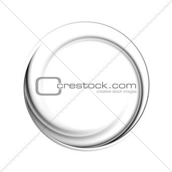 Black circle vector logo shape
