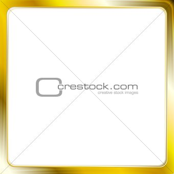 Abstract metallic golden frame
