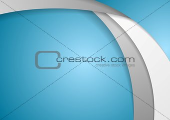 Corporate wavy vector background
