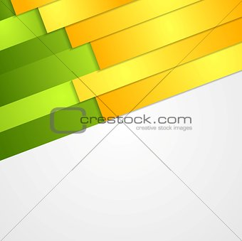 Abstract bright corporate background with paper stripes