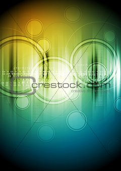 Abstract hi-tech background with circles