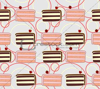 Cakes seamless texture