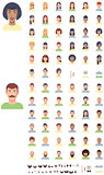 Vector flat faces icon set