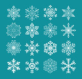 set of snowflakes, vector version