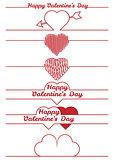 valentines day design elements - dividers