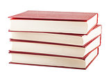 Stack of red cover books