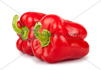 Pair of sweet red peppers