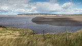 Weston-Super-Mare beach Summer landscape panorama viewed from Br