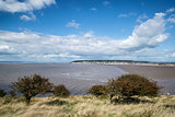 Landscape image of Weston-Super-Mare seen from sea cliffs
