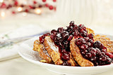Cranberry Sauce over French Toast