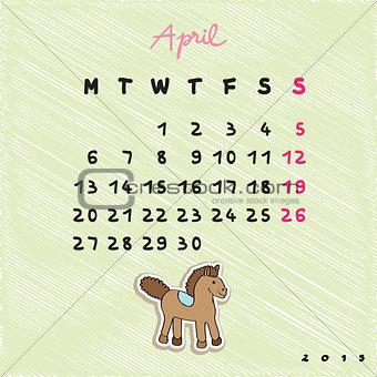 2015 horses april