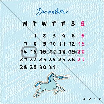 2015 horses december