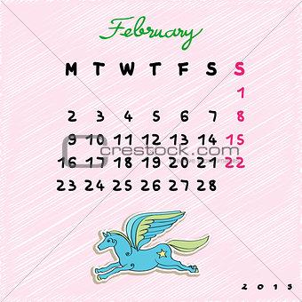 2015 horses february