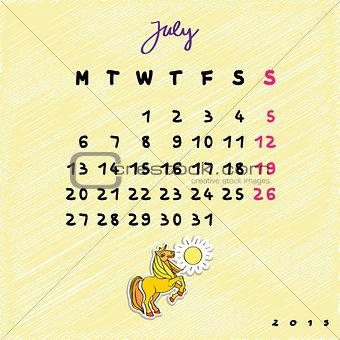 2015 horses july